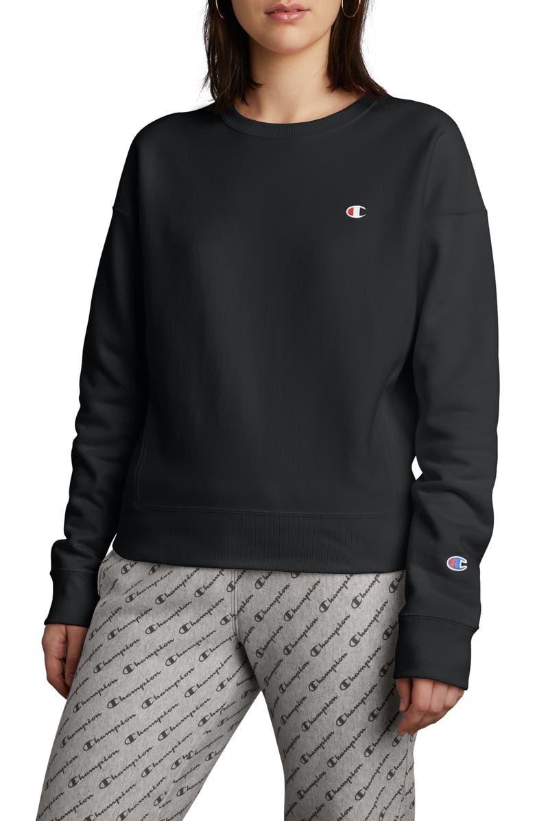 CHAMPION Reverse Weave Sweatshirt, Main, color, BLACK