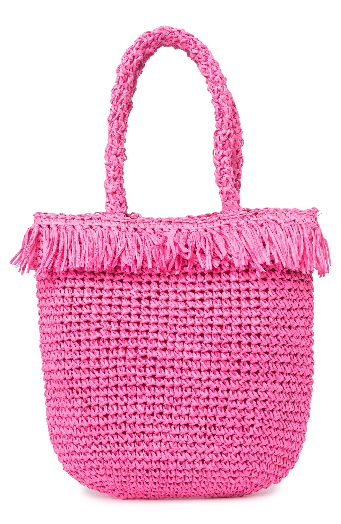 Image of Melrose and Market Palmer Straw Tote Bag