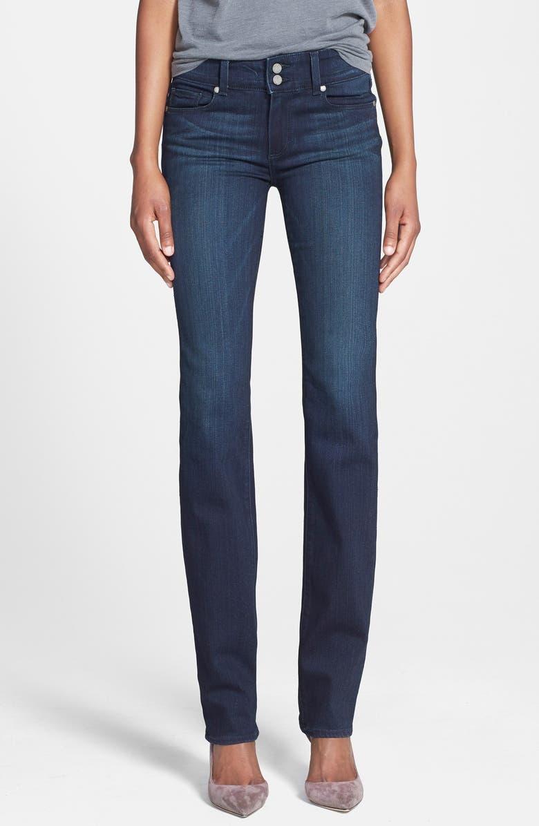 PAIGE Denim 'Transcend - Hidden Hills' High Rise Straight Leg Jeans, Main, color, MIDLAKE