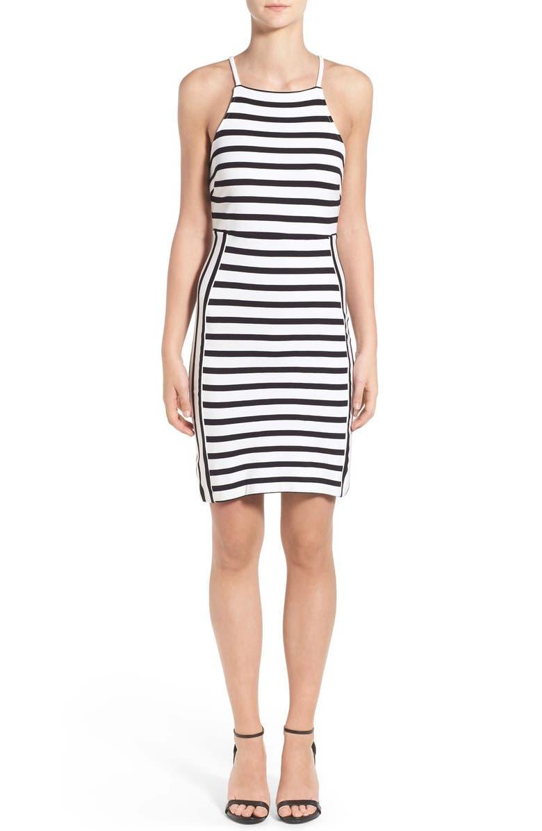 CUPCAKES AND CASHMERE 'Elliot' Stripe Body-Con Dress, Main, color, 103