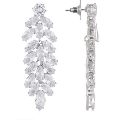 Nina Cubic Zirconia Cluster Drop Earrings