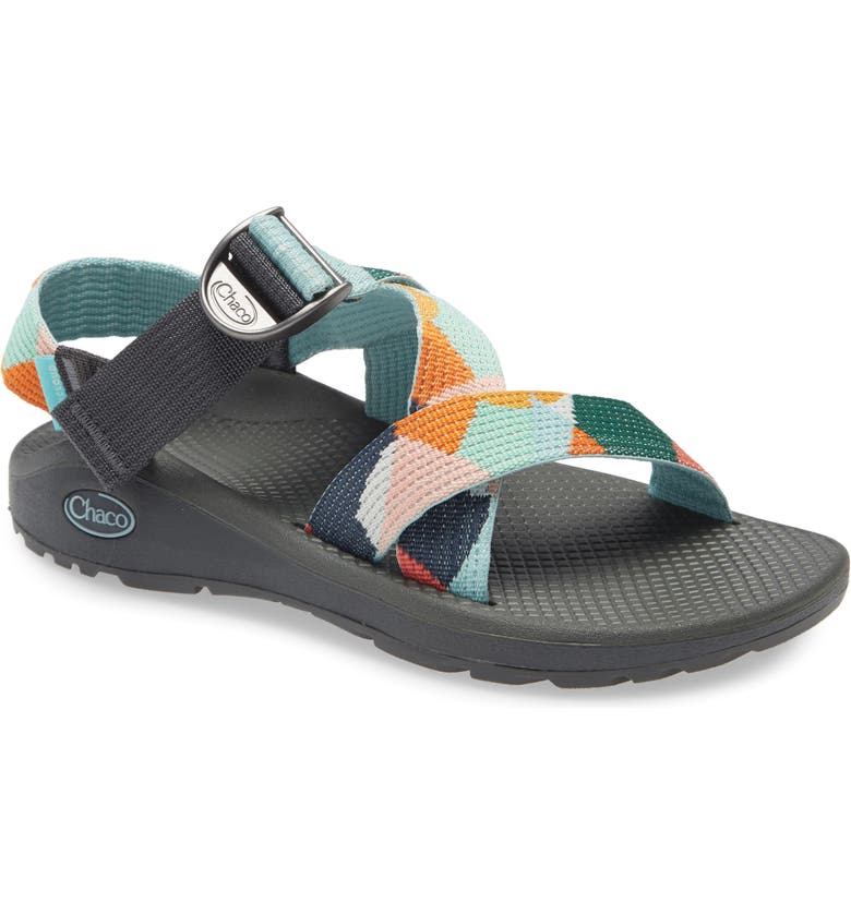 CHACO Mega Z/Cloud Sport Sandal, Main, color, GREEN MULTI FABRIC