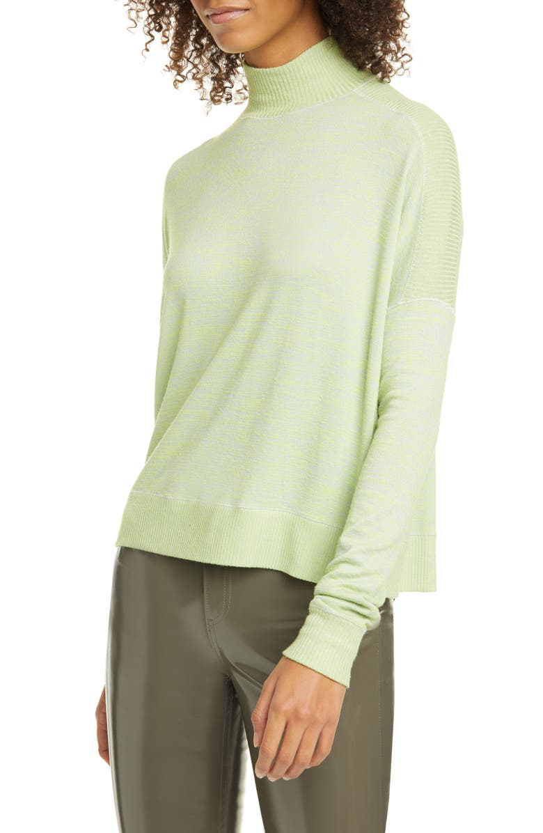 RAG & BONE Avryl Turtleneck Sweater, Main, color, LIME GREEN MULTI