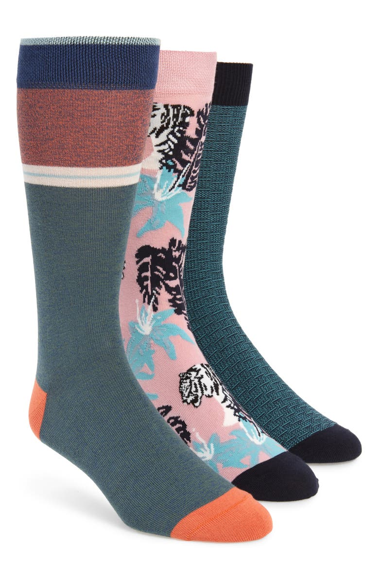 TED BAKER LONDON 3-Pack Socks, Main, color, 440