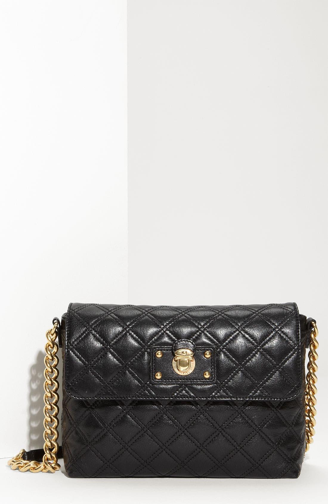 ,                             'Large Quilting Single' Leather Shoulder Bag,                             Main thumbnail 1, color,                             001
