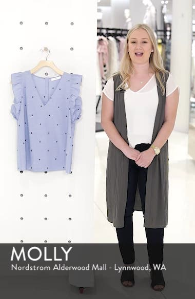 Anchor Embroidery Cotton Chambray Top, sales video thumbnail