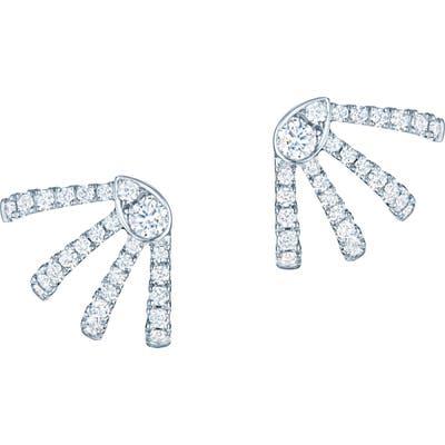 Kwiat Small Vine Diamond Huggie Earrings