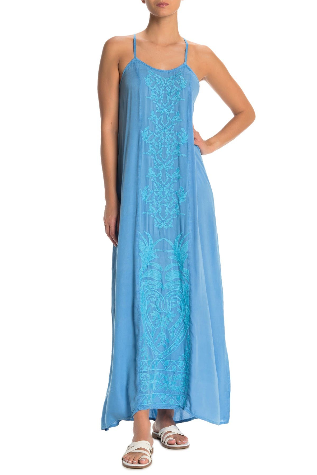 Image of BOHO ME Embroidered Cover-Up Maxi Dress