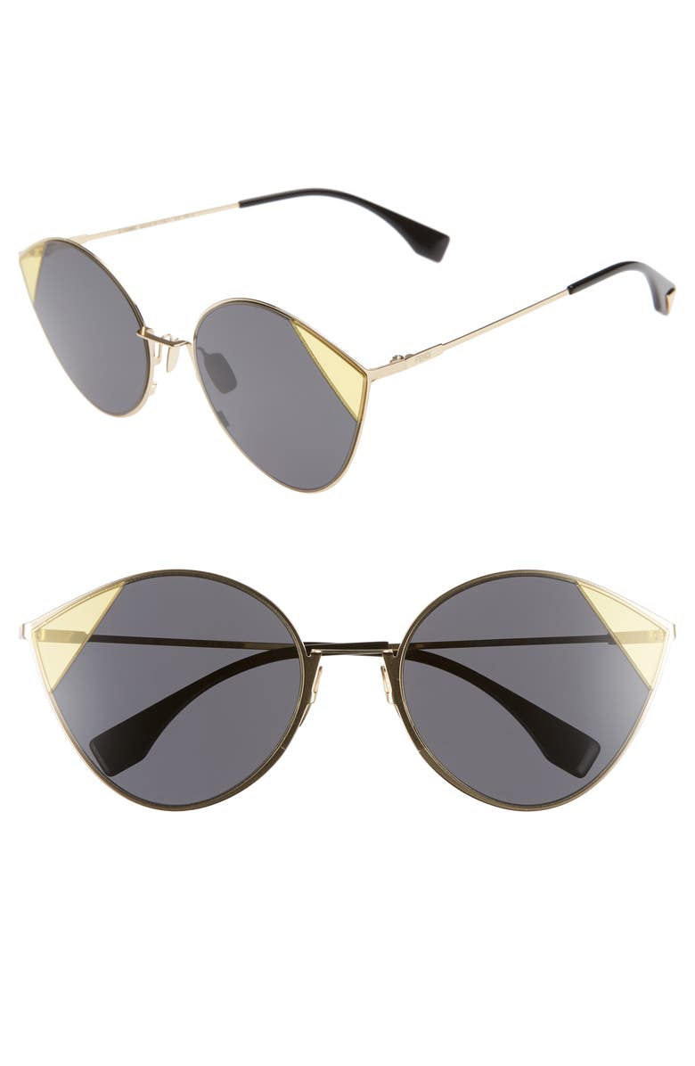 6a523a837 60mm Cat Eye Sunglasses, Main, color, ANTIQUE GOLD/ GREY