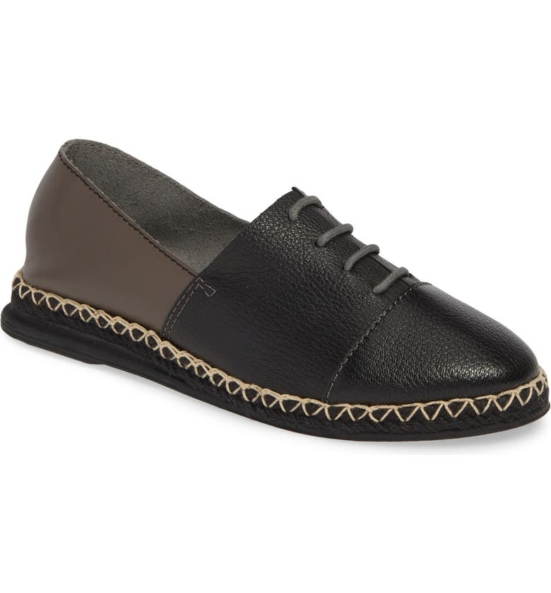 KELSI DAGGER BROOKLYN Evolve Espadrille, Main, color, BLACK LEATHER