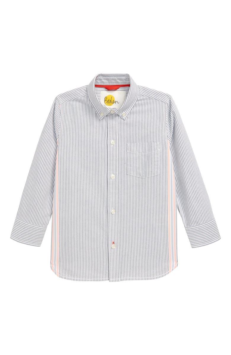 MINI BODEN Oxford Shirt, Main, color, COLLEGE BLUE/ ECRU