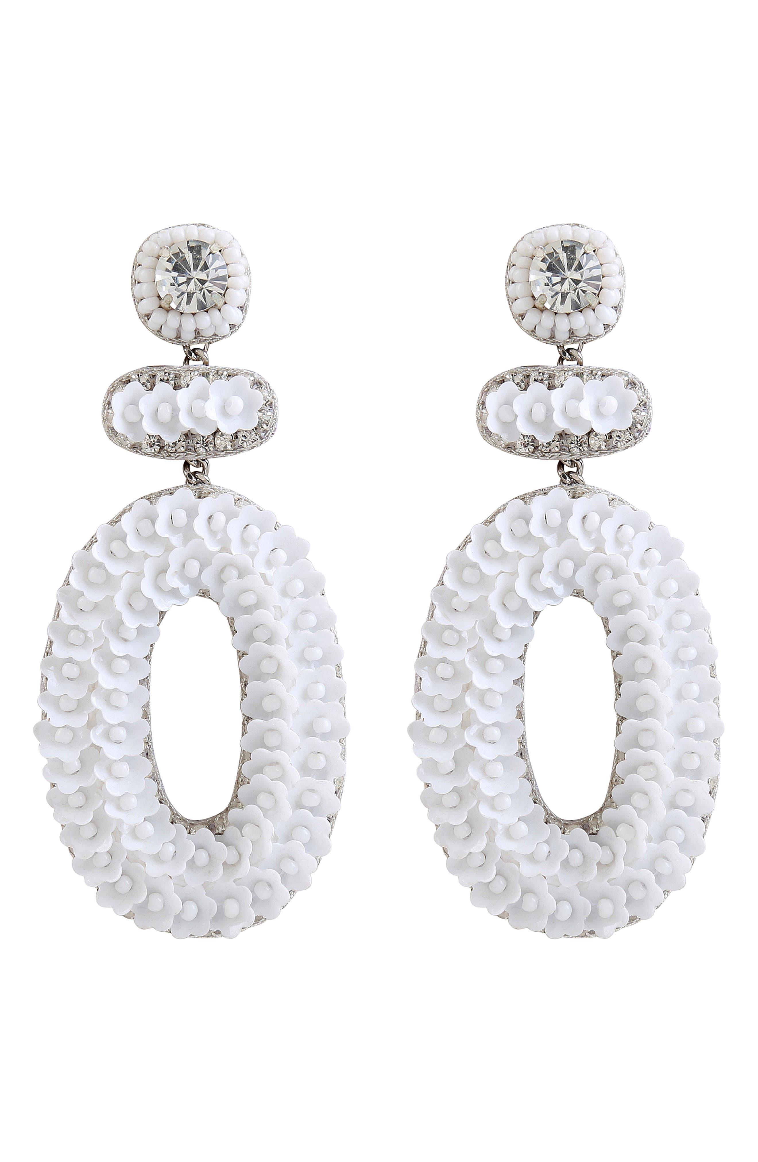 Britt Floral Drop Earrings