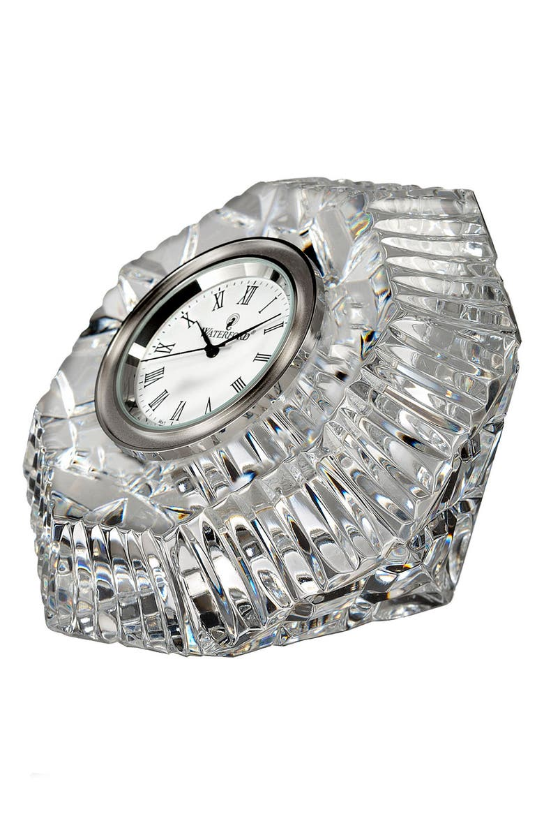 WATERFORD Lismore Diamond Clock, Main, color, CRYSTAL
