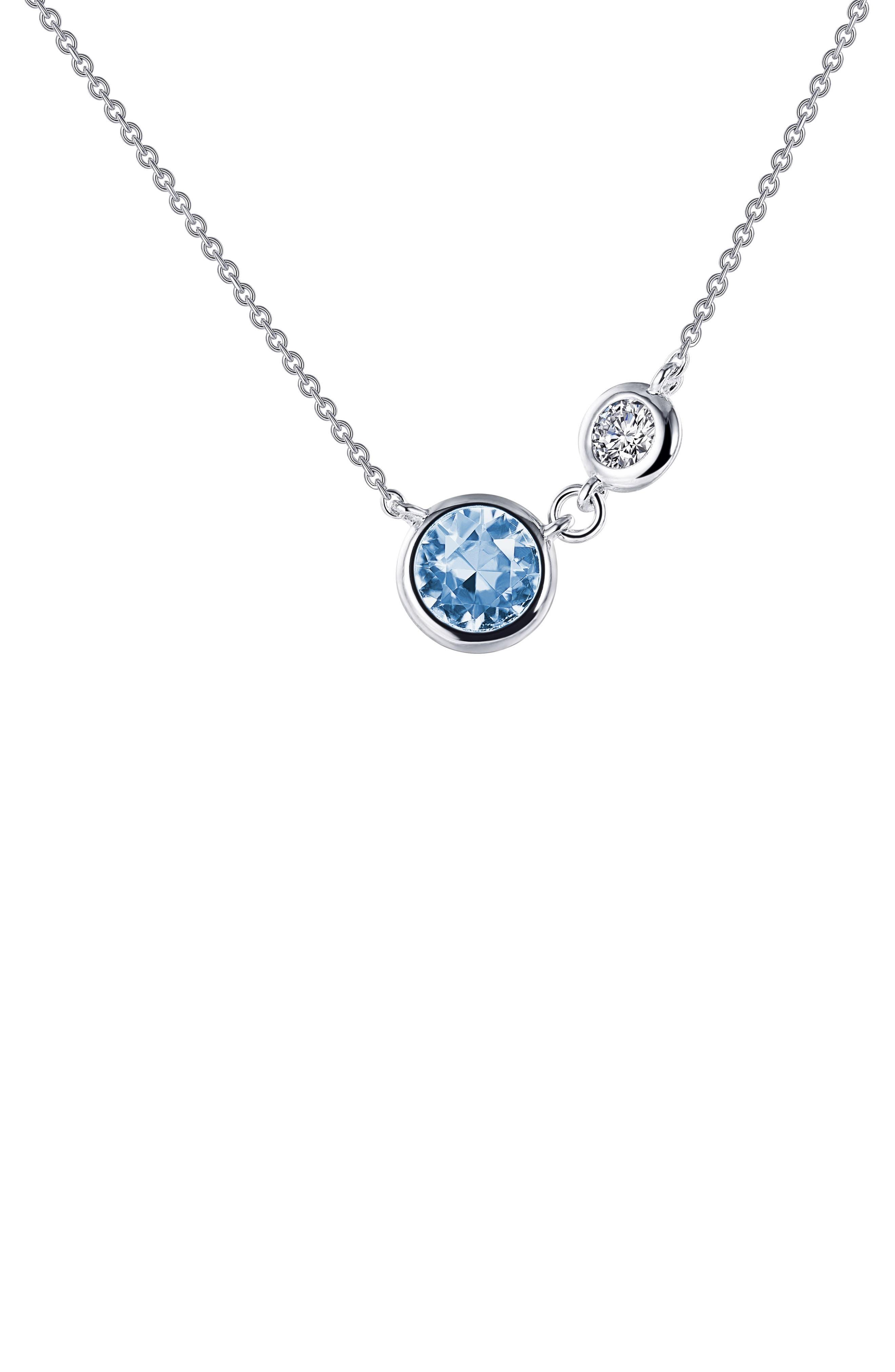 Simulated Aquamarine Necklace
