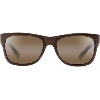 Maui Jim Kahi 5m Polarizedplus2 Sunglasses - Matte Brown