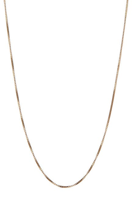Image of Candela 14K Yellow Gold Box Chain Necklace
