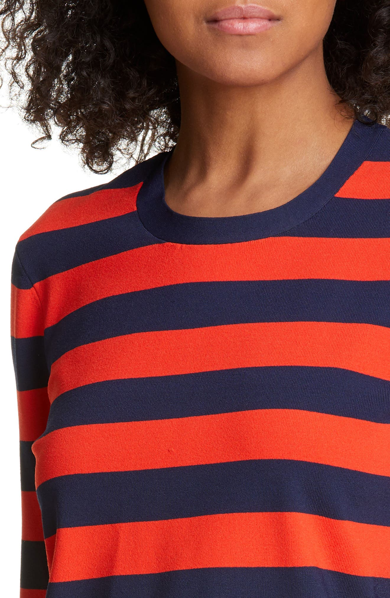 ,                             Broome Stripe Sweater,                             Alternate thumbnail 4, color,                             RED MULTI