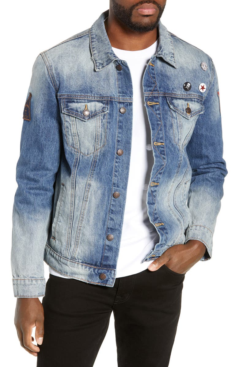 DRAGONFLY CLOTHING Pig in the Sky Denim Jacket, Main, color, 460