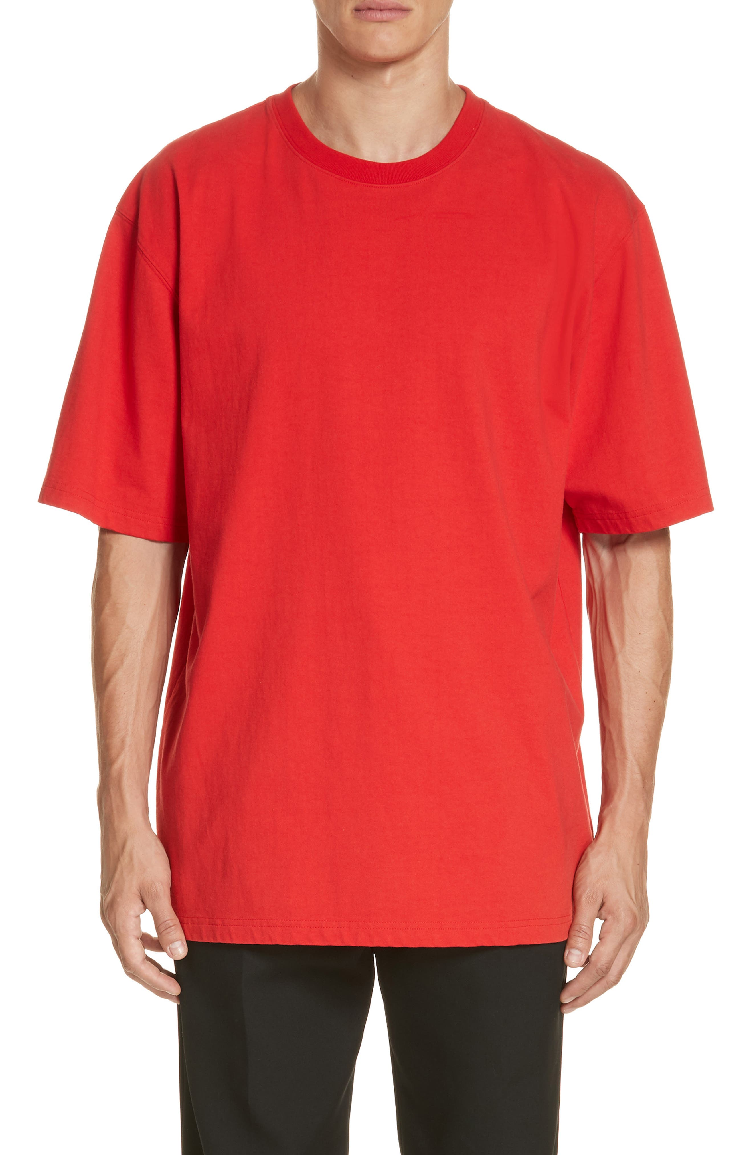 ,                             Oversize T-Shirt,                             Main thumbnail 1, color,                             RED