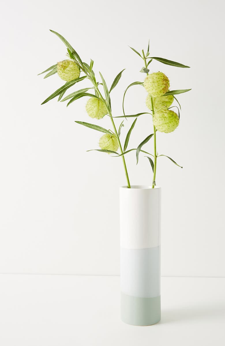 ANTHROPOLOGIE HOME Sasha Large Vase, Main, color, TURQUOISE