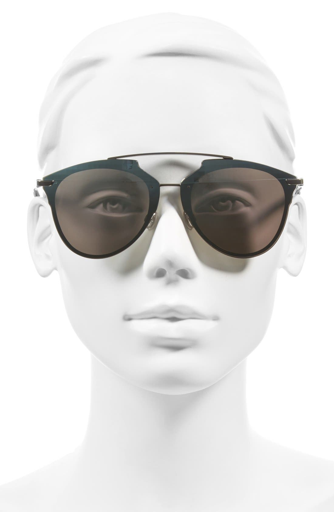 ,                             Reflected Prism 63mm Oversize Mirrored Brow Bar Sunglasses,                             Alternate thumbnail 13, color,                             043