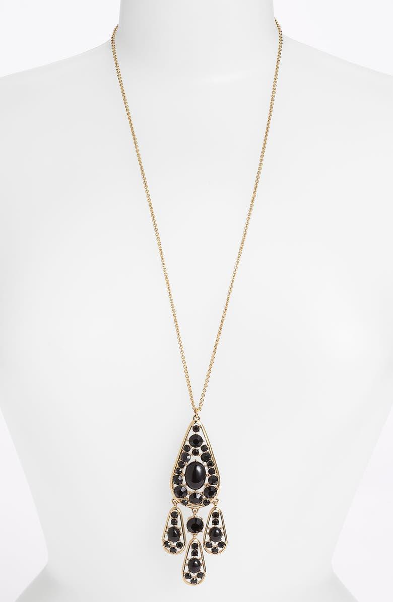 KATE SPADE NEW YORK 'paisley park' long pendant necklace, Main, color, 001