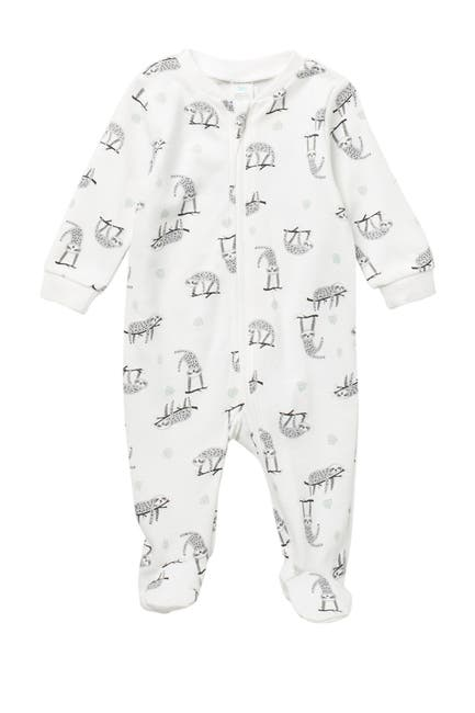 Image of PL Baby by Petit Lem Sloth Print Coverall
