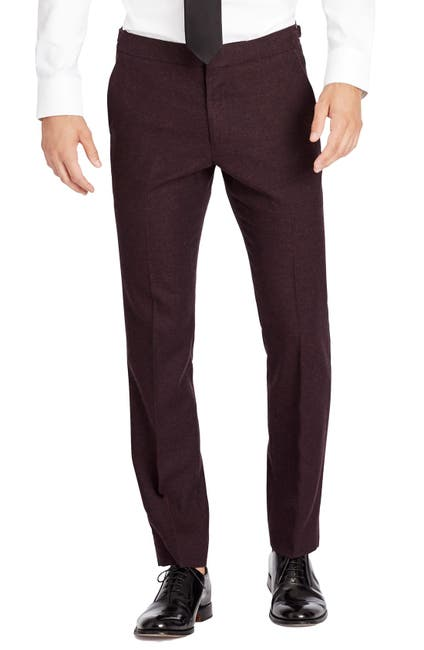 Image of Bonobos Flat Front Wool & Cashmere Tuxedo Trousers