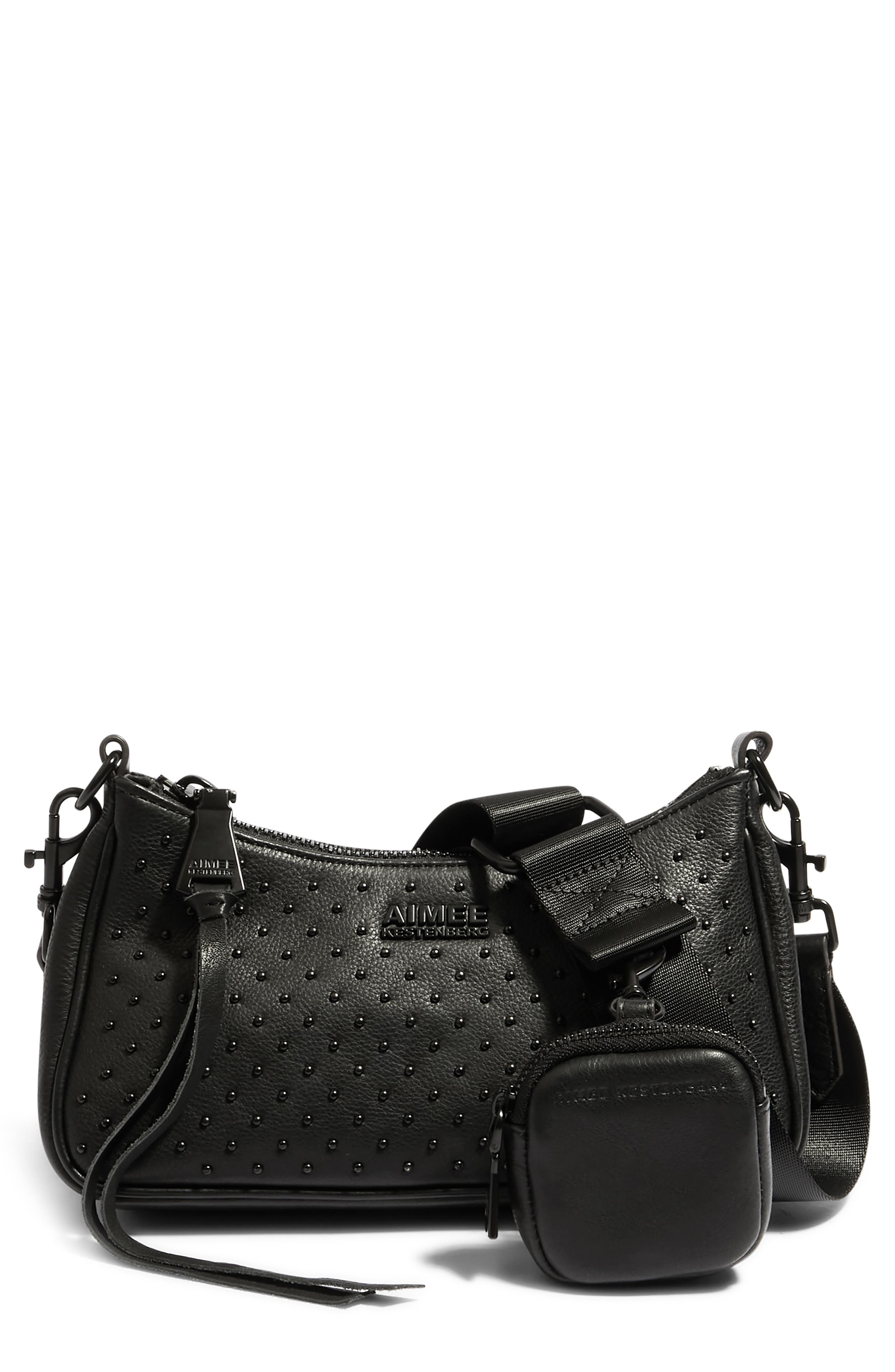 Topaz Leather Crossbody With Pouch