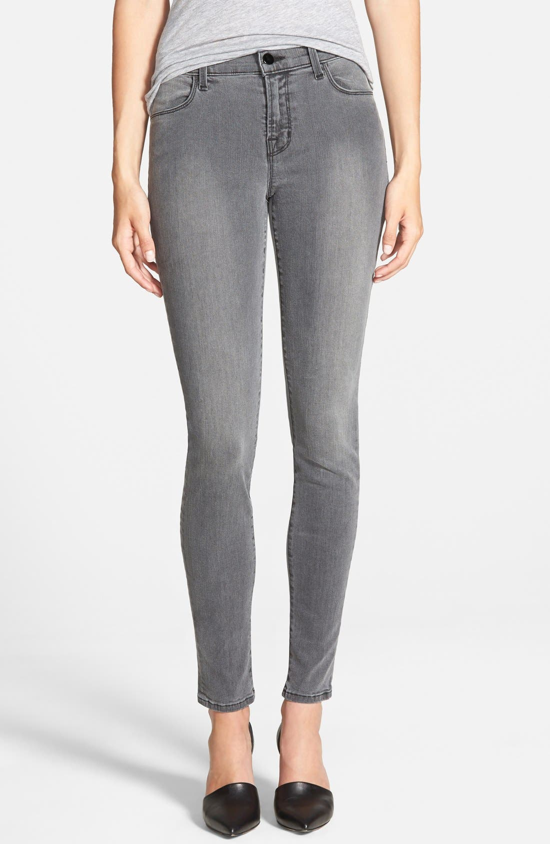 ,                             '620' Mid Rise Skinny Jeans,                             Main thumbnail 4, color,                             005