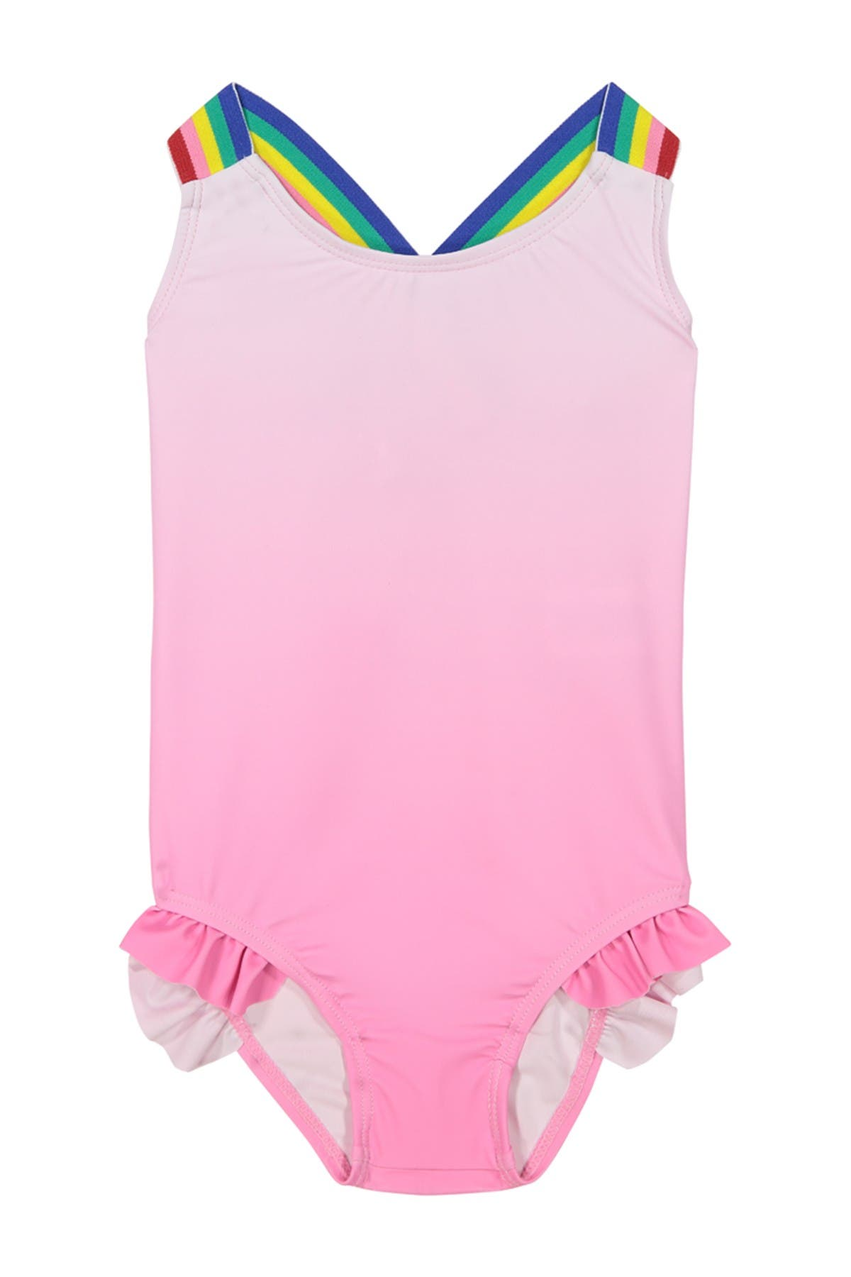 Image of Andy & Evan Crisscross Back & Ruffle One-Piece Swimsuit