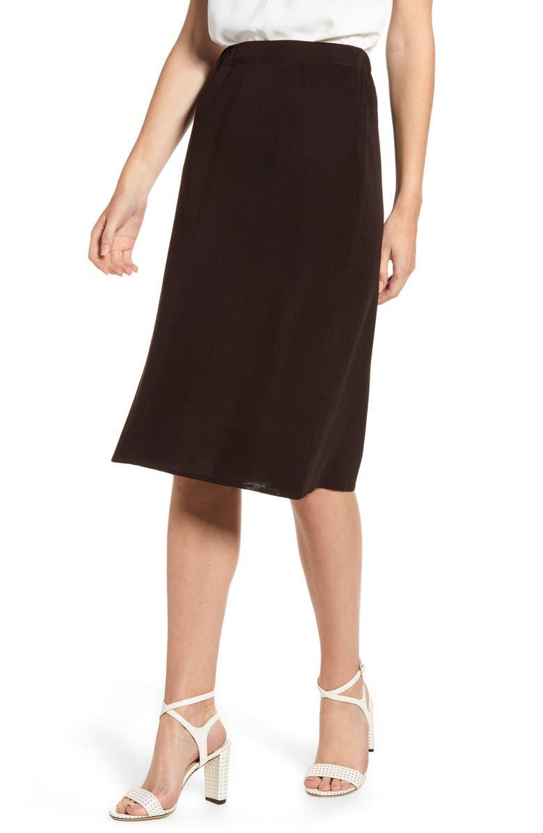 MING WANG Knit Skirt, Main, color, 200