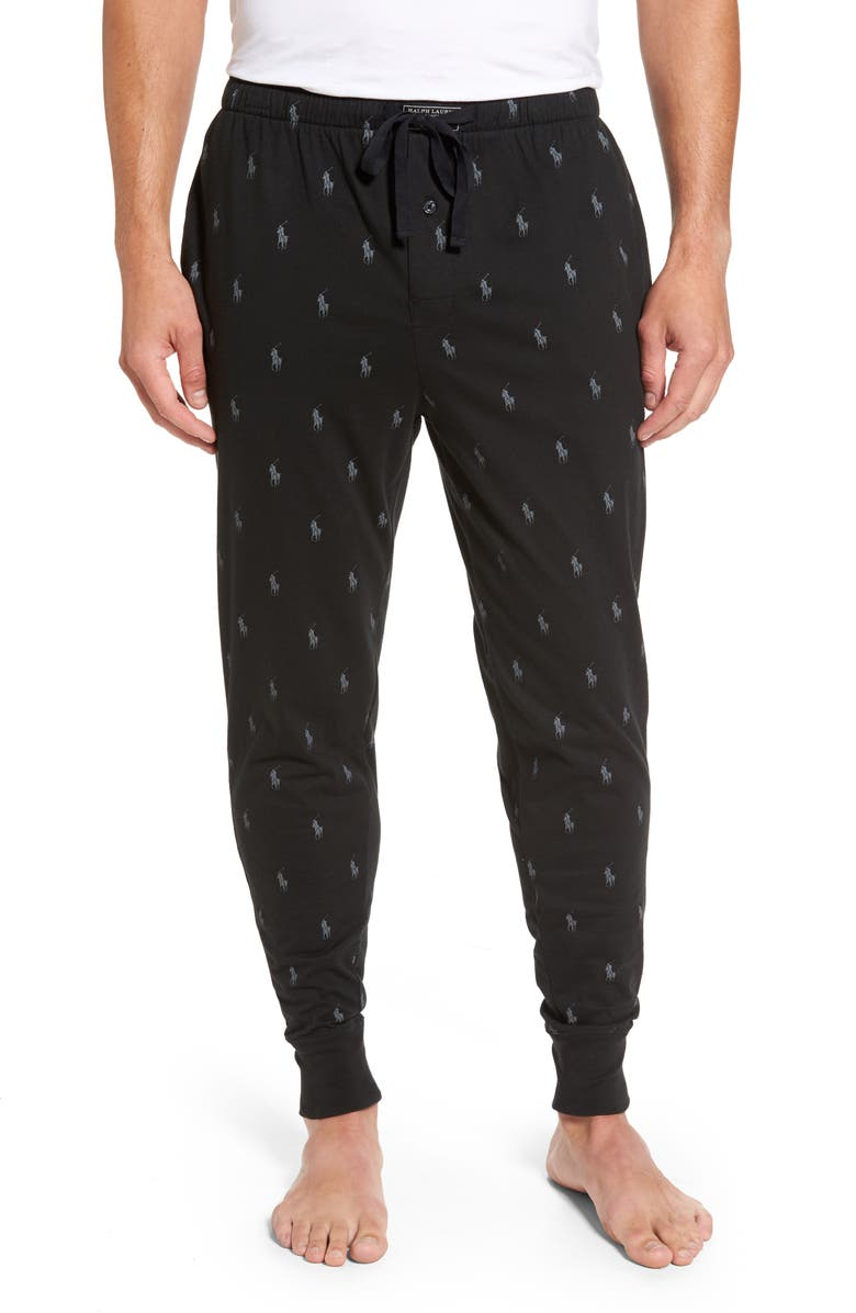 POLO RALPH LAUREN Pony Print Pajama Pants, Main, color, 001