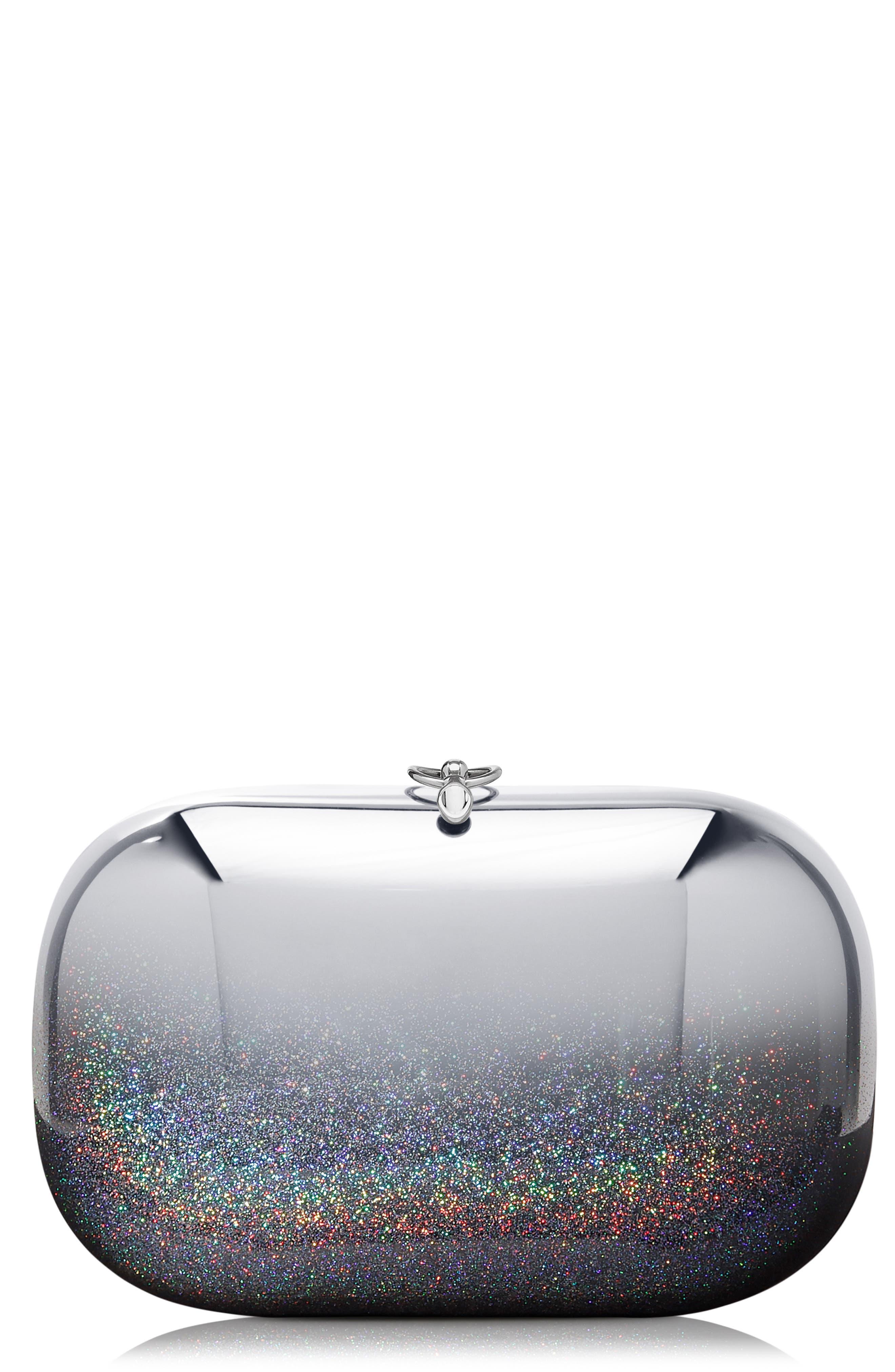 Elina Mirrored Chrome Clutch