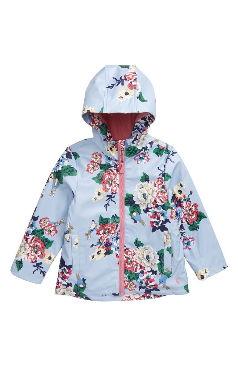 JOULES Raindance Rain Jacket, Main, color, LTBLURABFL