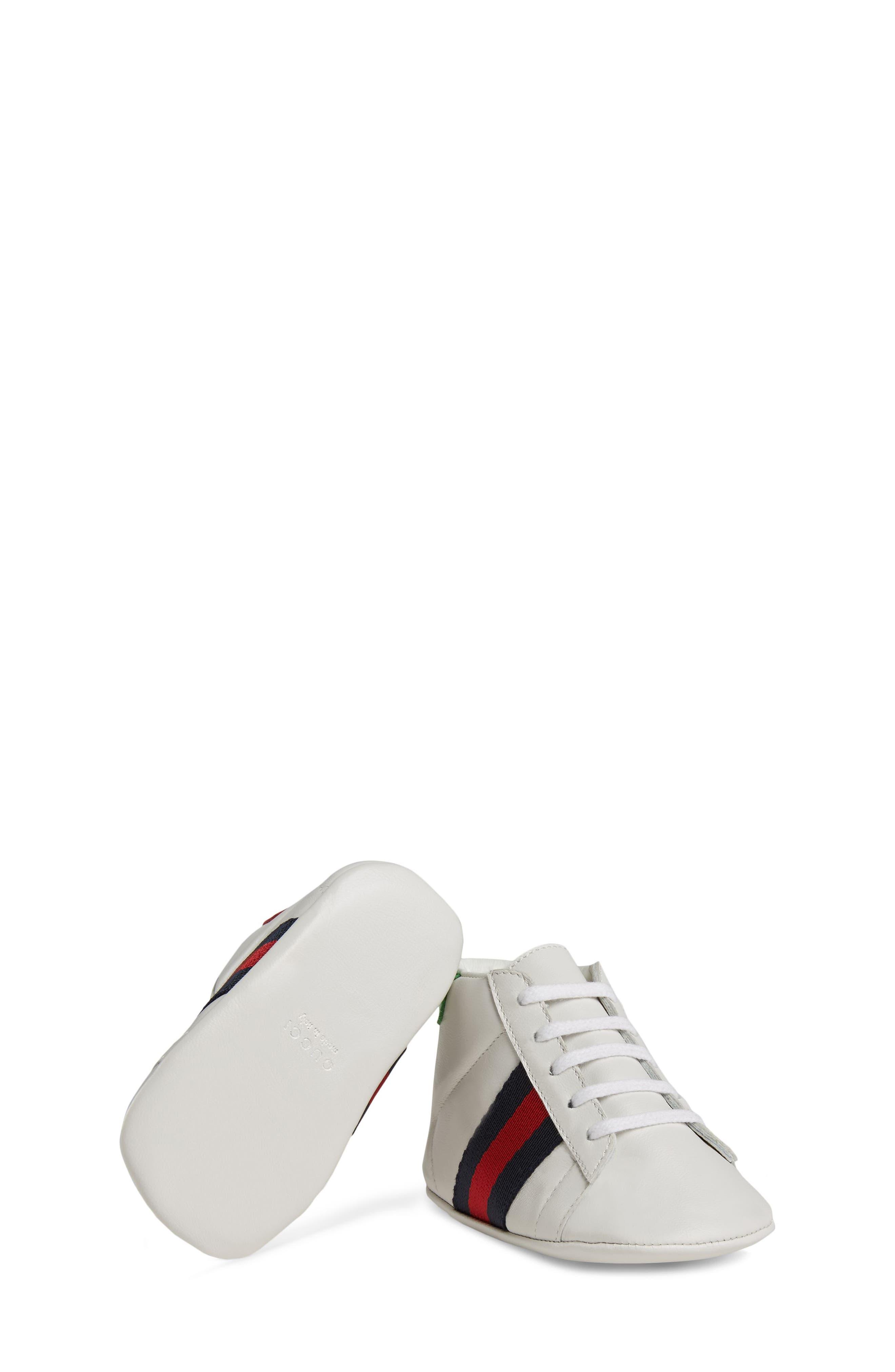 ,                             New Ace Crib Shoe,                             Alternate thumbnail 5, color,                             WHITE