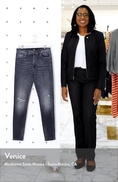 Barbara Ripped High Waist Super Skinny Jeans, sales video thumbnail
