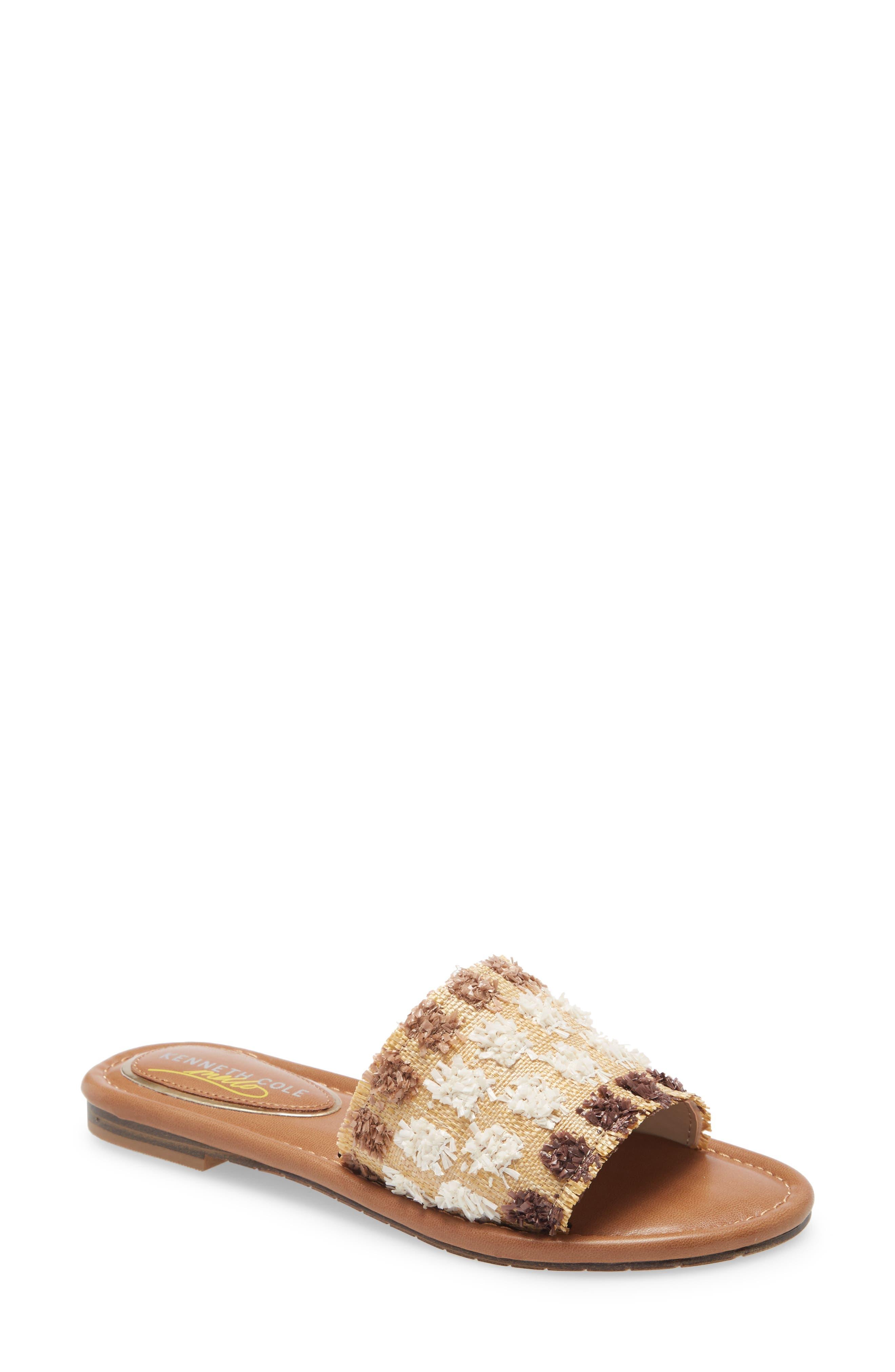 Mello Raffia Slide Sandal