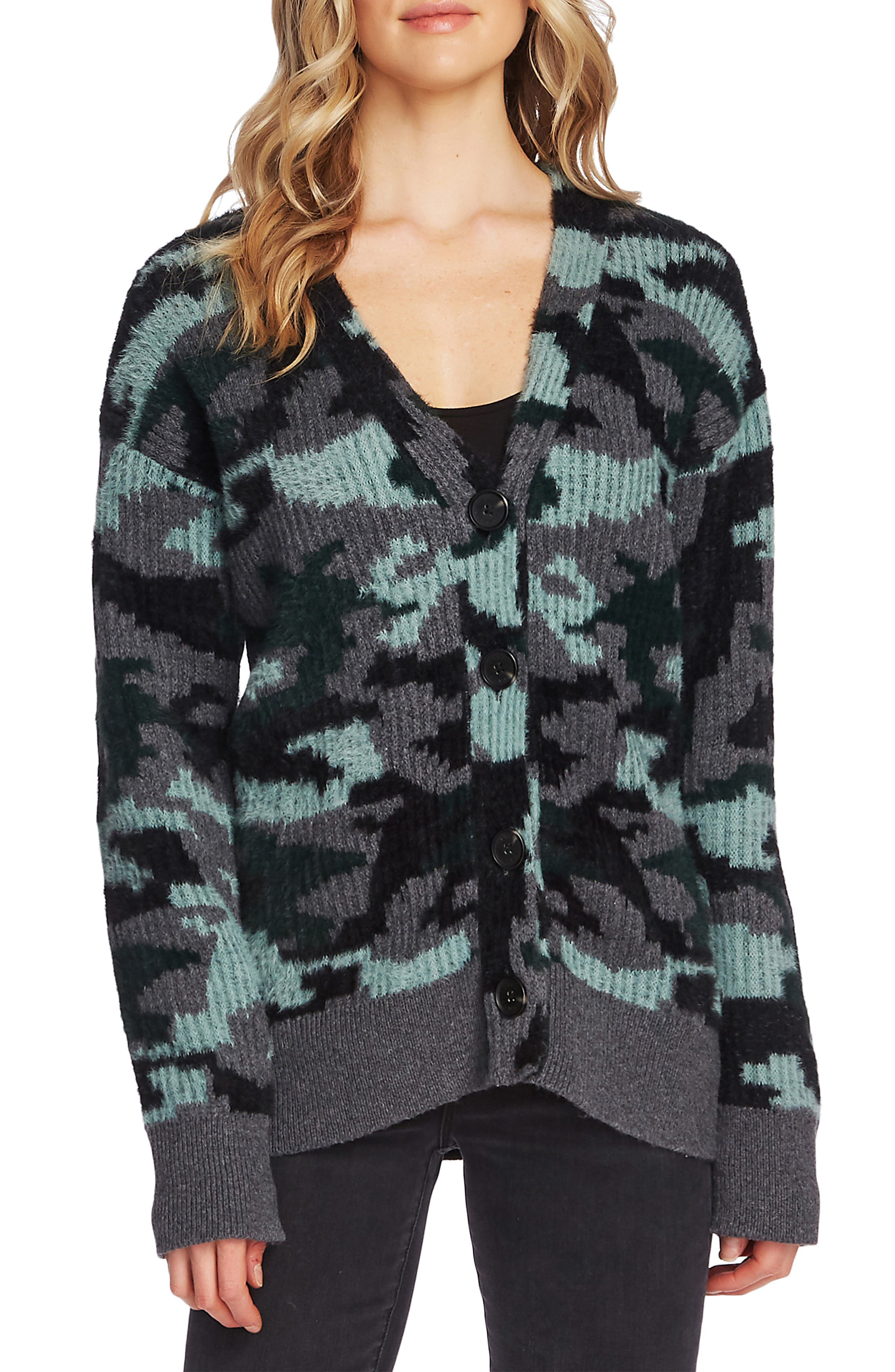 Vince Camuto Tops Camo Cardigan