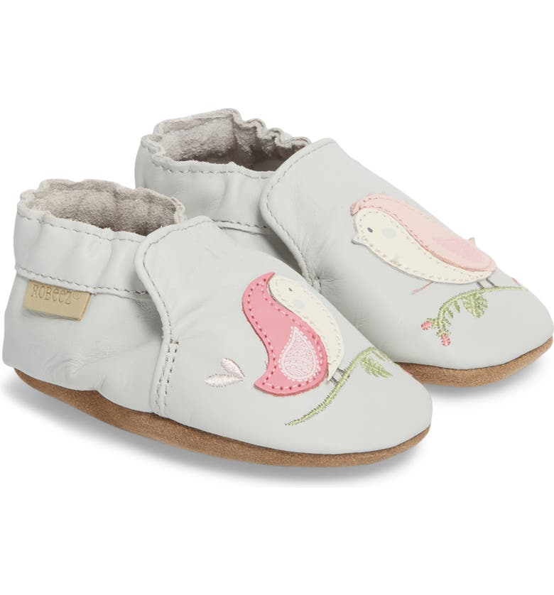 ROBEEZ<SUP>®</SUP> Bird Buddies Crib Shoe, Main, color, 055