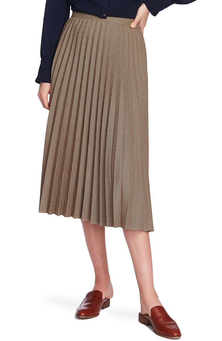 COURT & ROWE Mini Houndstooth Print Pleated Skirt, Main, color, 215
