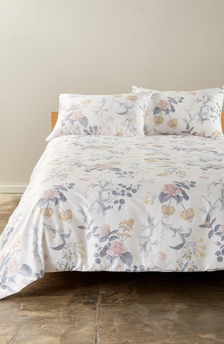 NORDSTROM Veronica Floral Print Duvet Cover, Main, color, PINK CREOLE FLORAL MULTI