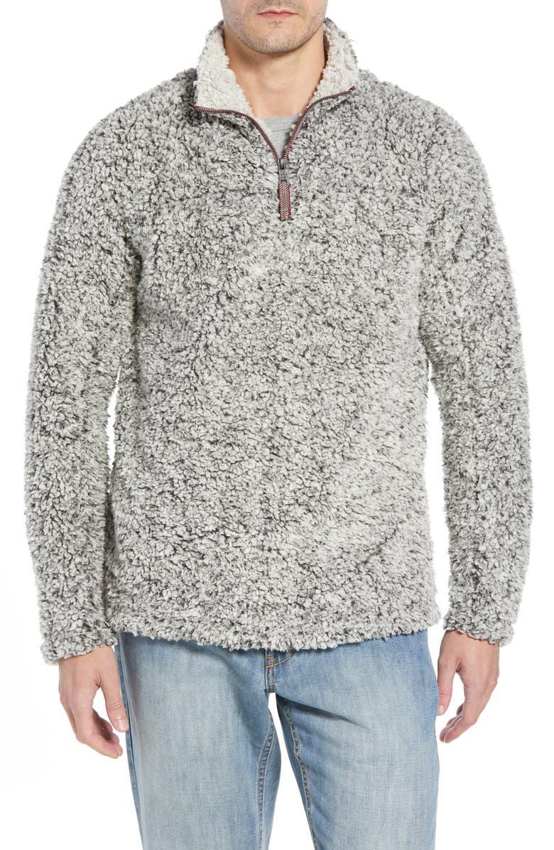 TRUE GRIT Marled Quarter Zip Pullover, Main, color, 020