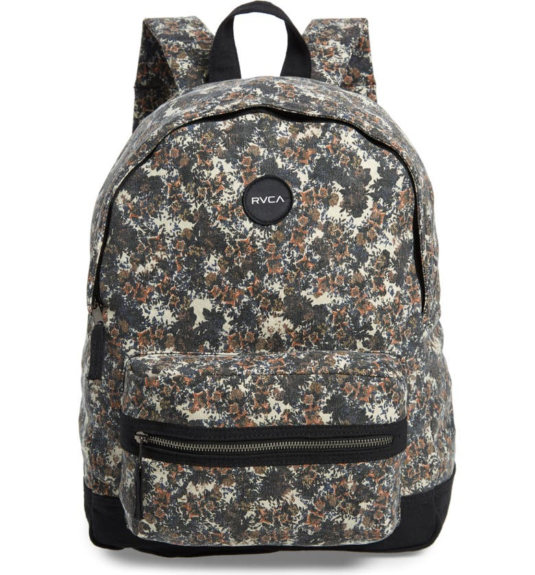 RVCA Tides Print Canvas Backpack, Main, color, 001