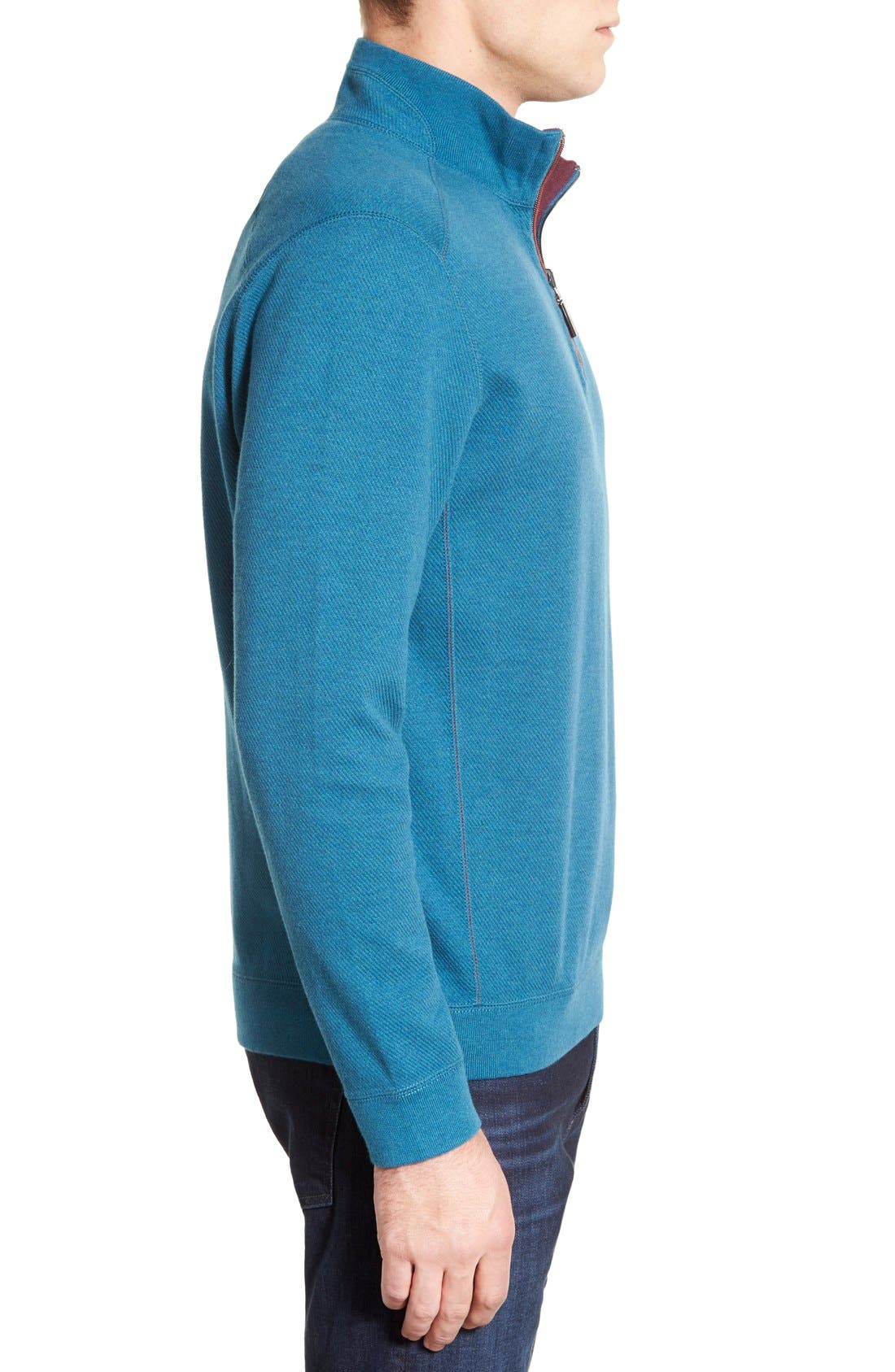 ,                             'Flip Side' Reversible Quarter Zip Pullover,                             Alternate thumbnail 9, color,                             001