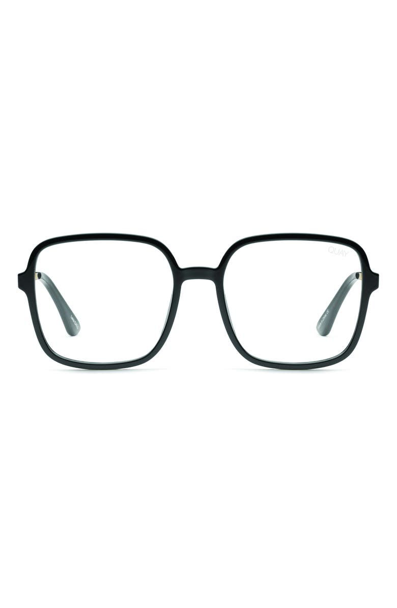 QUAY AUSTRALIA 9 to 5 56mm Blue Light Blocking Glasses, Main, color, 001
