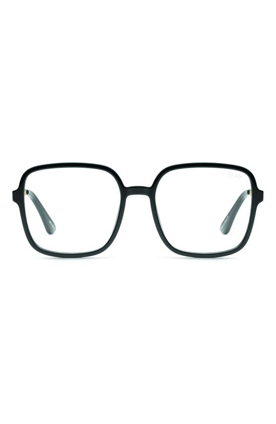 Quay 9-to-5 56mm Blue Light Blocking Glasses In Black/ Clear Blue Light