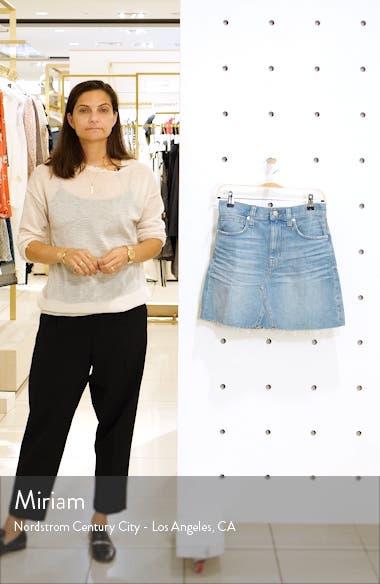 Denim A-Line Miniskirt, sales video thumbnail