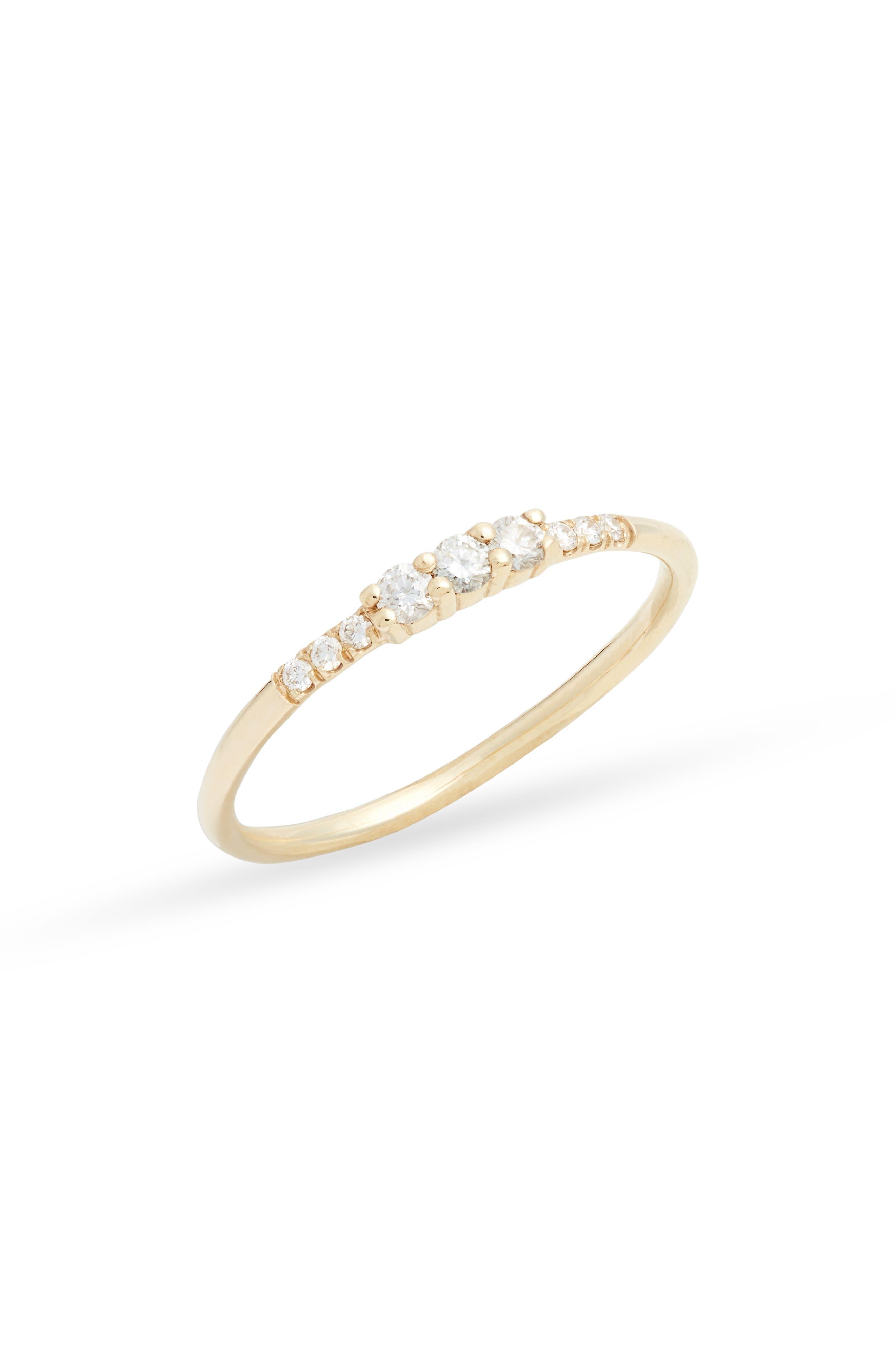 Three Diamond Equilibrium Ring