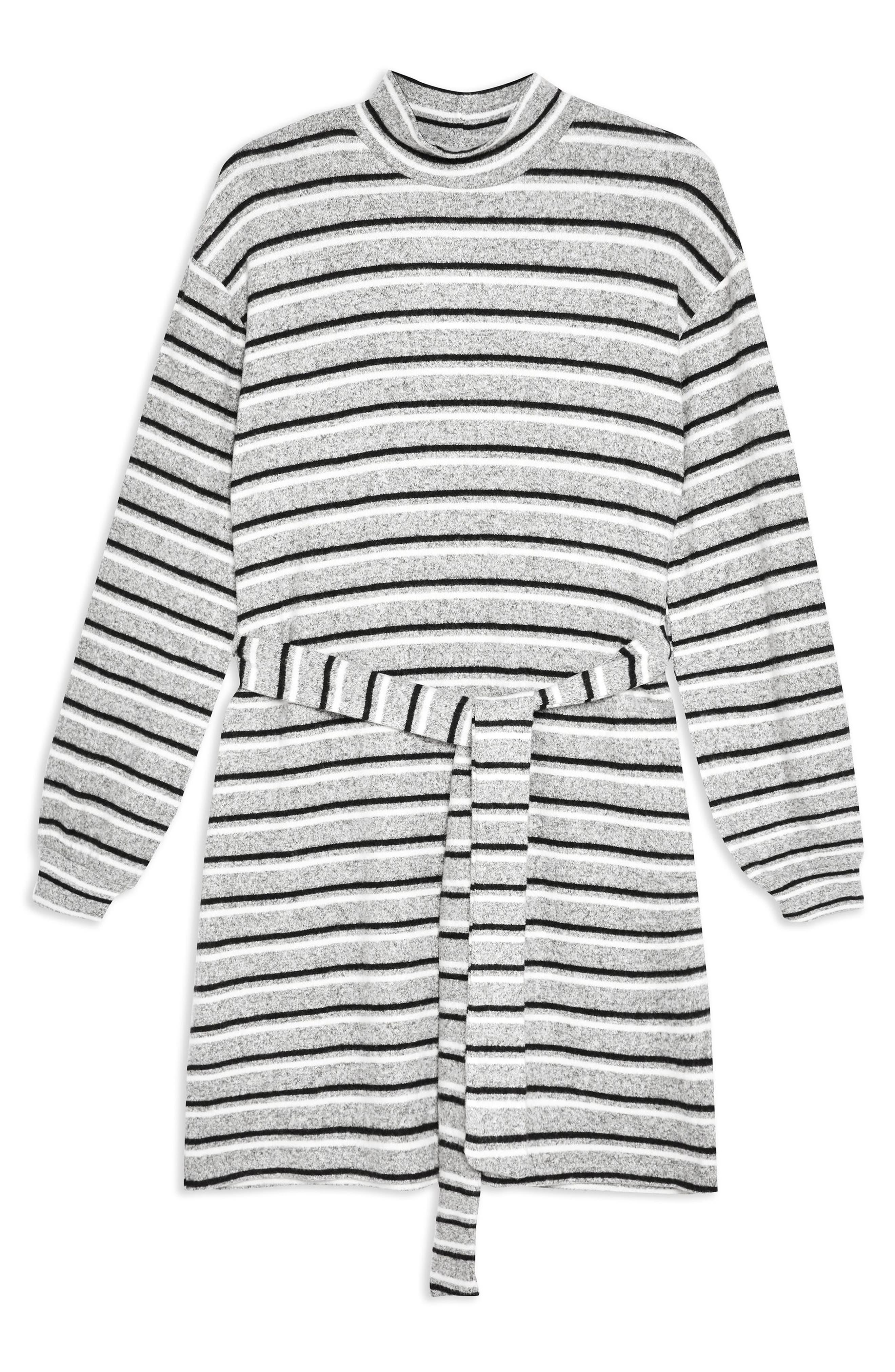 ,                             Stripe Belt Minidress,                             Alternate thumbnail 3, color,                             020